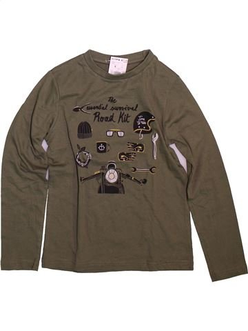 T-shirt manches longues garçon KIABI marron 8 ans hiver #1499055_1