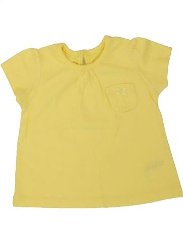 T-shirt manches courtes fille GEORGE jaune 3 mois été #1499096_1