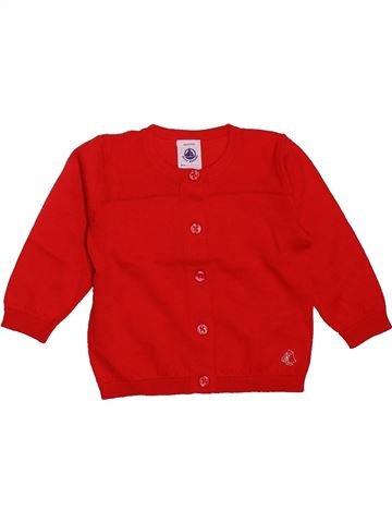 Gilet fille PETIT BATEAU rouge 6 mois hiver #1499221_1