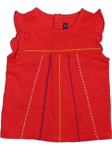 Camiseta de manga corta niña SERGENT MAJOR rojo 9 meses verano #1499234_1