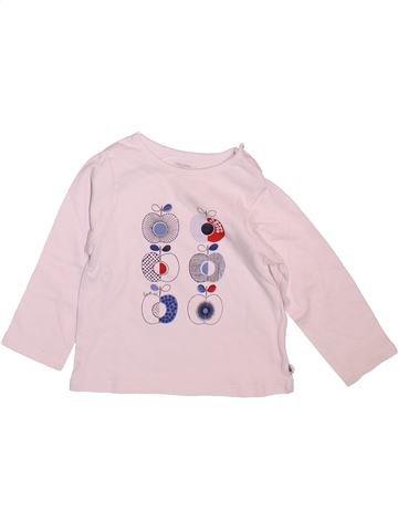 T-shirt manches longues fille OKAIDI blanc 12 mois hiver #1499236_1