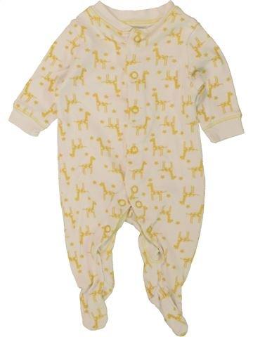 Pyjama 1 pièce garçon LILY & DAN beige naissance été #1499343_1