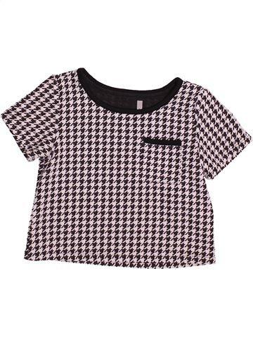 T-shirt manches courtes fille GEORGE gris 9 ans hiver #1499498_1