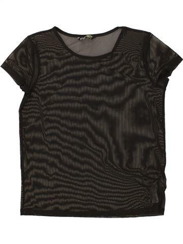 Camiseta de manga corta niña F&F negro 10 años verano #1499505_1