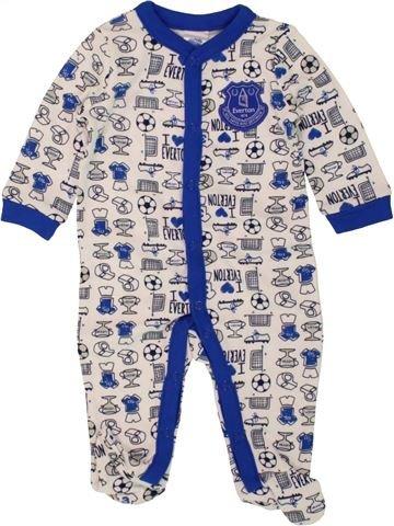 Pyjama 1 pièce garçon EVERTON blanc 3 mois été #1499555_1
