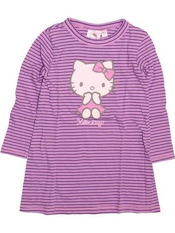 Chemise de nuit fille HELLO KITTY violet 2 ans hiver #1499584_1
