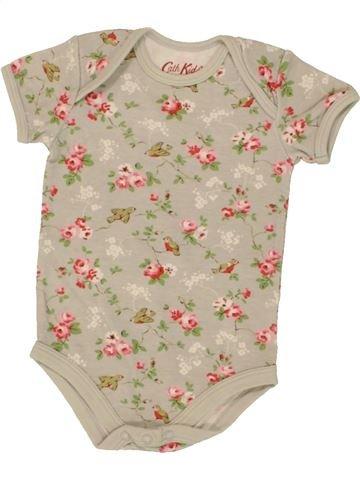 T-shirt manches courtes fille CATH KIDS beige 6 mois été #1499638_1