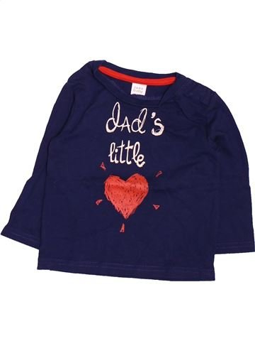 Camiseta de manga larga niña ZARA azul 9 meses invierno #1499663_1