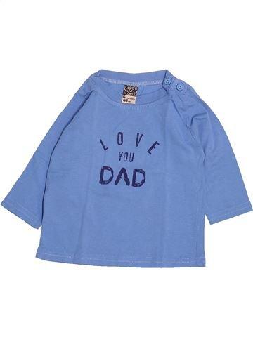 T-shirt manches longues garçon TAPE À L'OEIL bleu 6 mois hiver #1499714_1
