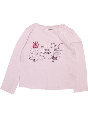 T-shirt manches longues fille VERTBAUDET rose 6 ans hiver #1499778_1