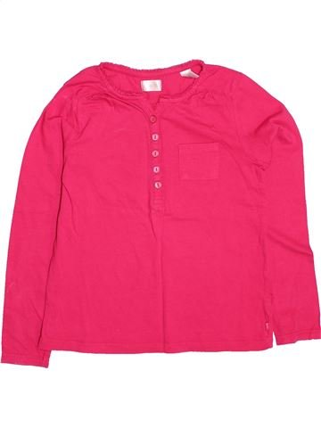 T-shirt manches longues fille OKAIDI rose 8 ans hiver #1499785_1