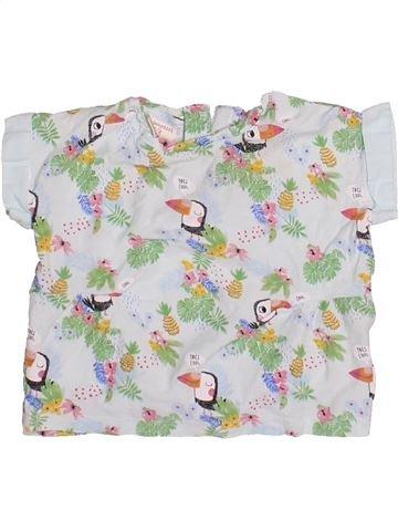 T-shirt manches courtes fille ZARA blanc 9 mois été #1499943_1