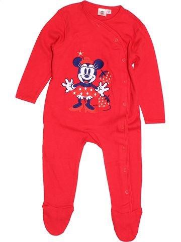 Pyjama 1 pièce fille DISNEY rouge 9 mois été #1500013_1
