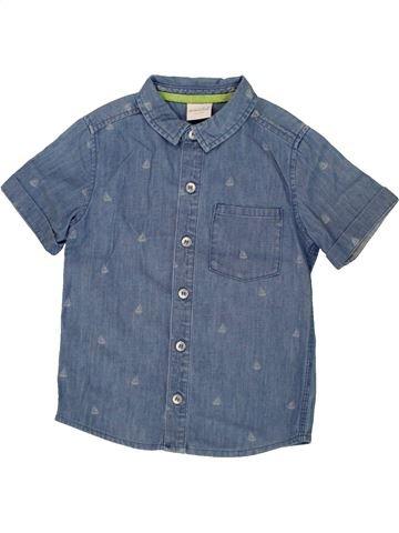 Camisa de manga corta niño MINI CLUB azul 4 años verano #1500082_1