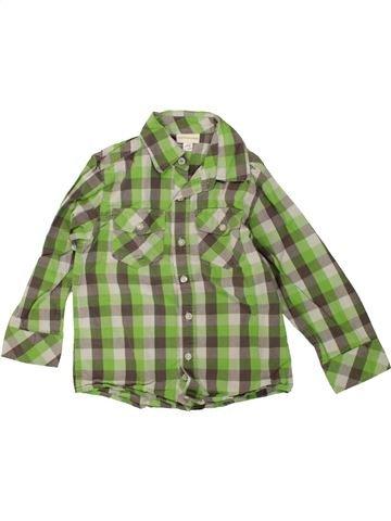 Chemise manches longues garçon VERTBAUDET vert 4 ans hiver #1500112_1