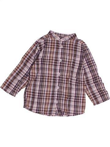 Chemise manches longues garçon BOUT'CHOU gris 2 ans hiver #1500206_1
