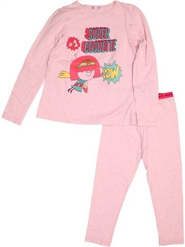 Pyjama 2 pièces fille DPAM rose 8 ans hiver #1500229_1