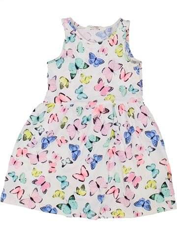 Robe fille H&M blanc 4 ans été #1500281_1