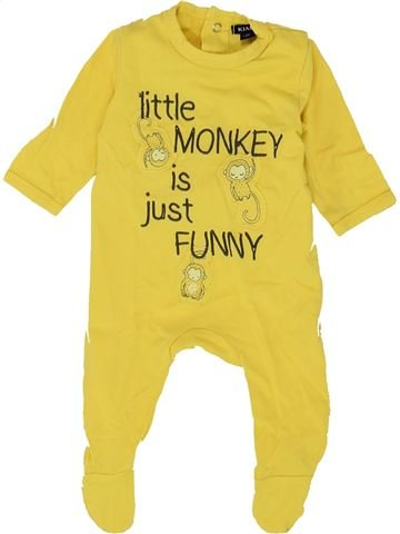 Pyjama 1 pièce garçon KIABI jaune 1 mois été #1500372_1