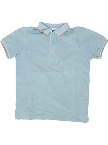 Polo de manga corta niño VERTBAUDET azul 5 años verano #1500417_1