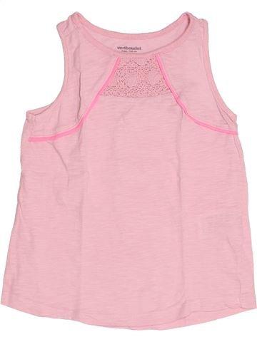 T-shirt sans manches fille VERTBAUDET rose 5 ans été #1500671_1