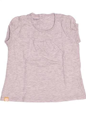 T-shirt manches courtes fille VERTBAUDET blanc 3 ans été #1500698_1