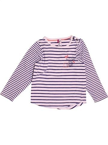 T-shirt manches longues fille ORCHESTRA violet 18 mois hiver #1500772_1