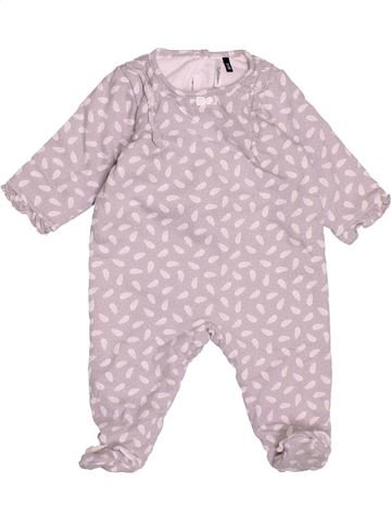 Pijama de 1 pieza niña 3 POMMES rosa 3 meses invierno #1501160_1