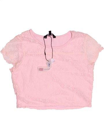T-shirt manches courtes fille CANDY COUTURE rose 13 ans été #1501461_1