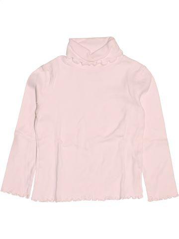 Camiseta de cuello alto niña CYRILLUS blanco 6 años invierno #1502180_1