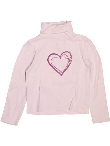 Camiseta de cuello alto niña VERTBAUDET rosa 8 años invierno #1502187_1