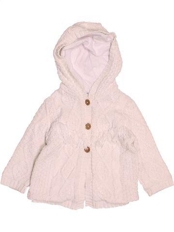 Chaleco niña VERTBAUDET blanco 12 meses invierno #1502531_1