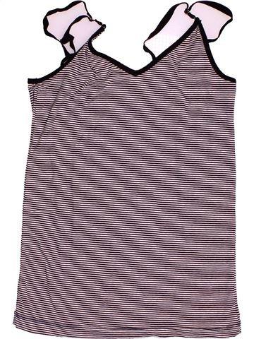 T-shirt sans manches fille PETIT BATEAU gris 16 ans été #1502826_1