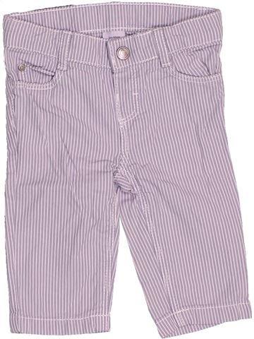 Pantalon garçon PETIT BATEAU violet 3 mois été #1502907_1
