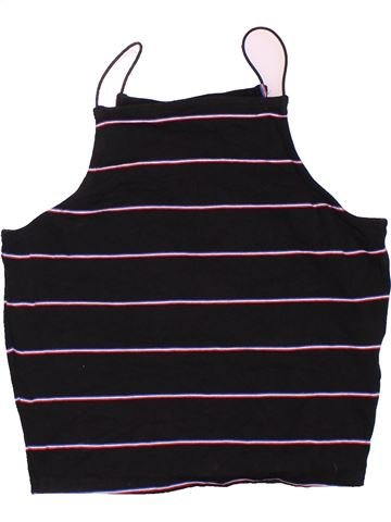 T-shirt sans manches fille NEW LOOK noir 13 ans été #1503496_1