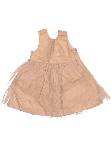 Vestido niña VERTBAUDET beige 6 meses verano #1503776_1