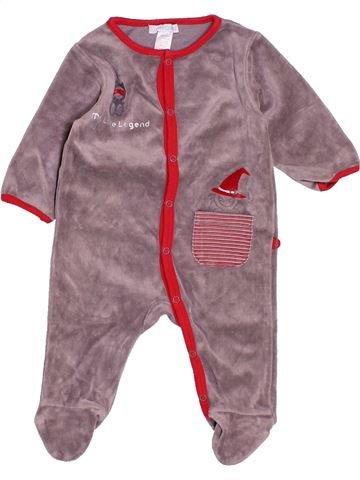 Pijama de 1 pieza niño OKAIDI violeta 3 meses invierno #1503967_1
