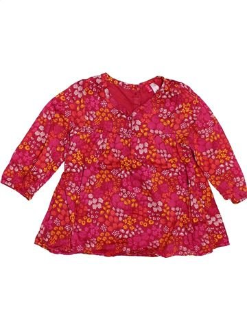 Blouse manches longues fille ORCHESTRA rouge 12 mois hiver #1504037_1