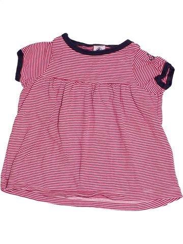 Camiseta de manga corta niña PETIT BATEAU rosa 2 años verano #1504279_1