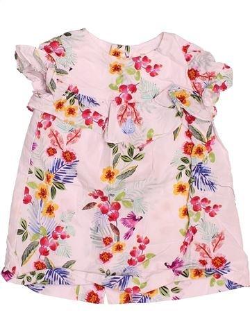 Blusa de manga corta niña ZARA rosa 18 meses verano #1504309_1