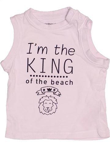 Top - Camiseta de tirantes niño VERTBAUDET rosa 3 meses verano #1504419_1