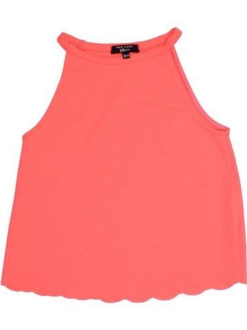 T-shirt sans manches fille NEW LOOK rose 11 ans été #1505137_1