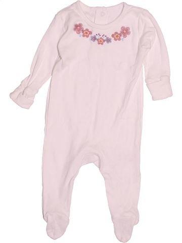 Pyjama 1 pièce fille MATALAN blanc 3 mois été #1505214_1