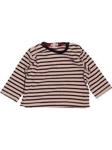 T-shirt manches longues garçon GRAIN DE BLÉ rose 6 mois hiver #1505305_1