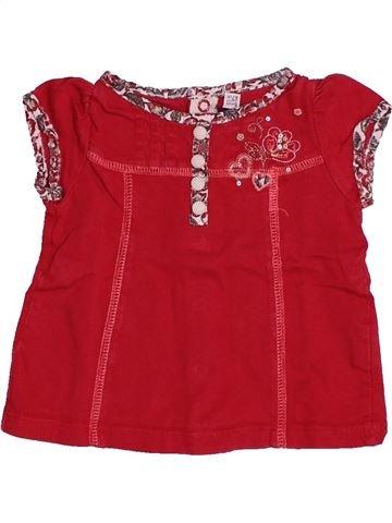 T-shirt manches courtes fille SERGENT MAJOR rouge 6 mois été #1505678_1