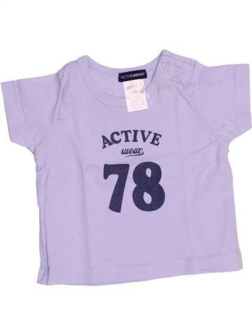 Camiseta de manga corta niño LA REDOUTE gris 3 meses verano #1506139_1