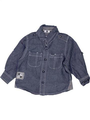 Chemise manches longues garçon TU bleu 12 mois hiver #1506443_1