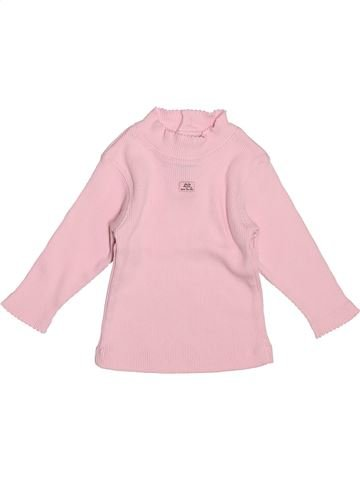 T-shirt col roulé fille LILI GAUFRETTE violet 12 mois hiver #1507166_1