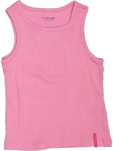 Camiseta sin mangas niña VERTBAUDET rosa 18 meses verano #1507240_1