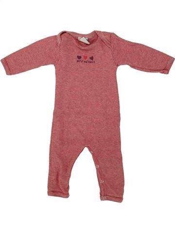 Combinación larga niño PETIT BATEAU rojo 3 meses invierno #1507328_1